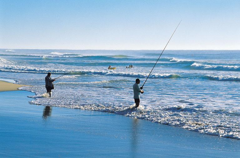 Beach fishing at Bawley Point